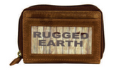 Rugged Earth Leather Card-Size ID Wallet, Style 990003