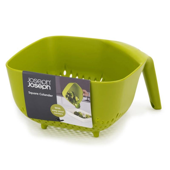 Square Stackable Colander, Green by Joseph Joseph