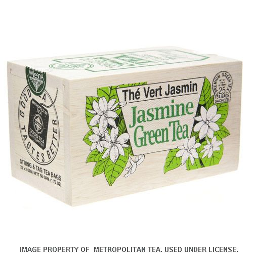 Wood Box, Jasmine Green Tea, 25 Teabags