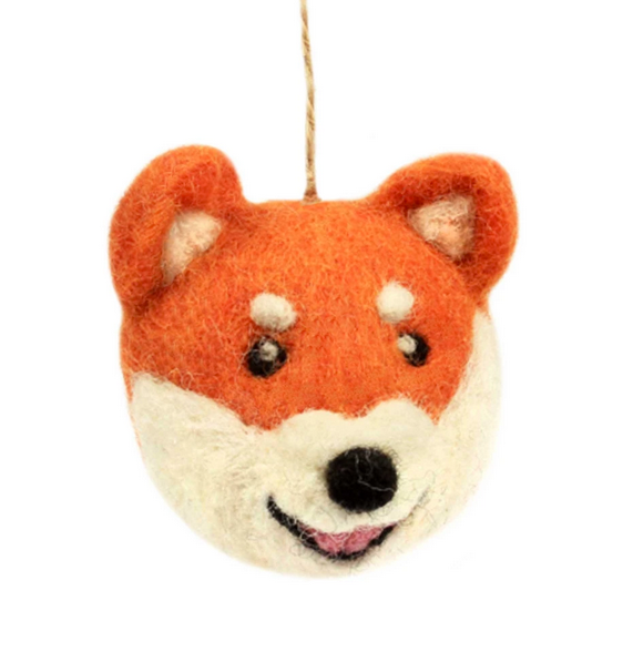 Fox-Head Shaped Felt Ornament,