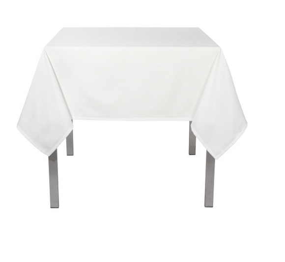 Solid White Renew Tablecloth, 60x90