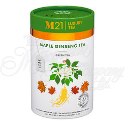 M21 Luxury Tea, Maple Ginseng Green Tea, 24 Pyramid Bags