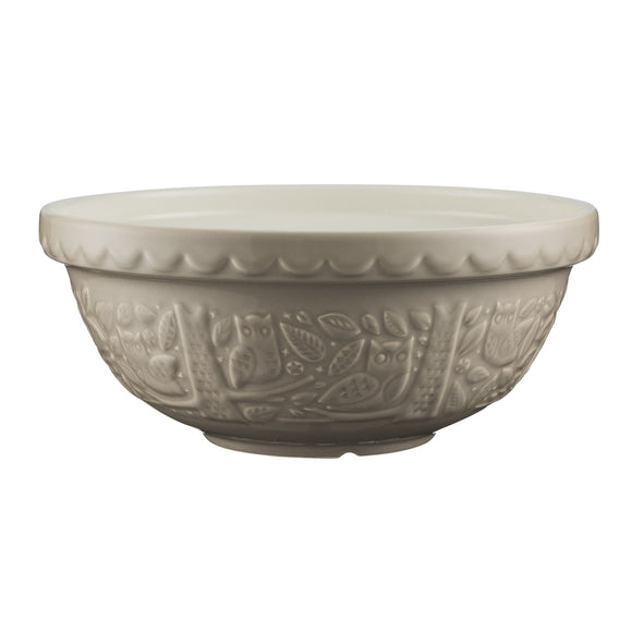 Forest Mixing Bowl, 26cm, Stone Owl