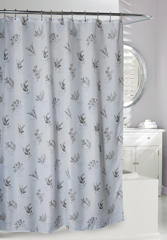 Camomile Slub Fabric Shower Curtain, 71x71
