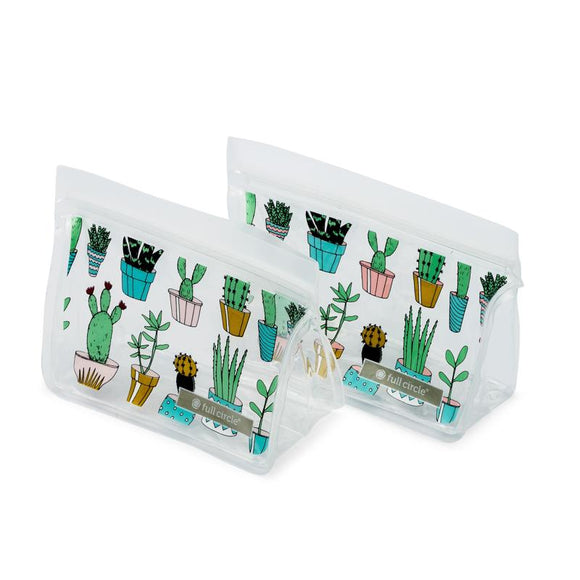 ZipTuck Re-Usable Snack Bags, Set of 2 - Cacti