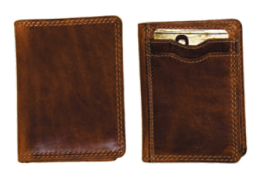 Rugged Earth Leather Card Holder, Style 990017