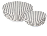 Bowl Cover, Ticking Stripe Set of 2 Sizes