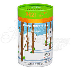 M21 Luxury Tea, Maple Green Tea Paper Can, 12 Pyramid Bags