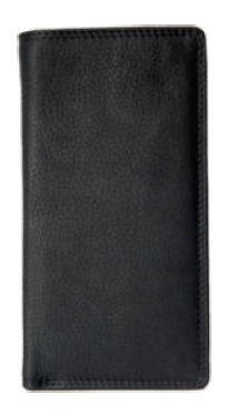 Rugged Earth Black Leather Tall Ladies Wallet, Style 880013