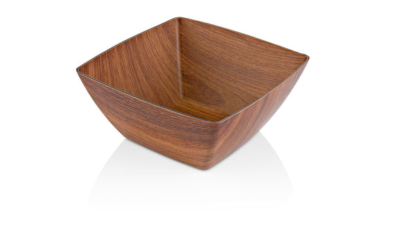 Faux Wood Square Bowl, 9.25