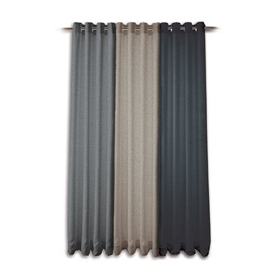 Modern Tweed Curtain, Concrete 57x96