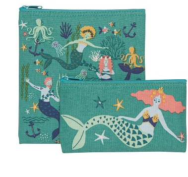 Snack Bags, Re-Usable Set of 2, Mermaids