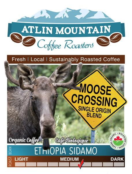 Moose Crossing Organic Coffee Beans - Whole - 400 grams