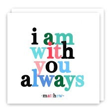 Quotable Framed Print - I Am With You, FRD294
