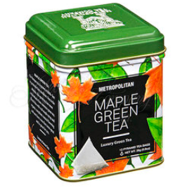Maple Green Tea, Large Tin 24 Teabags