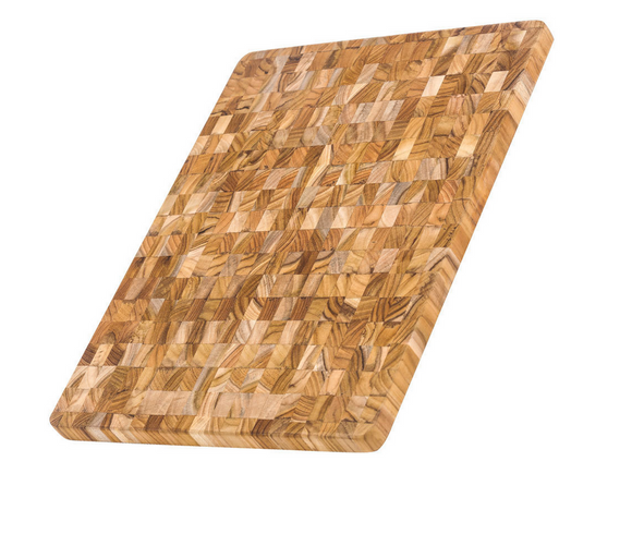 Teak Haus Thin & Lightweight End Grain Cutting Board, 18x14x1