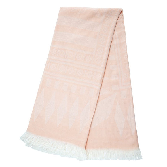 Nordik Pink Throw Blanket, 50x60