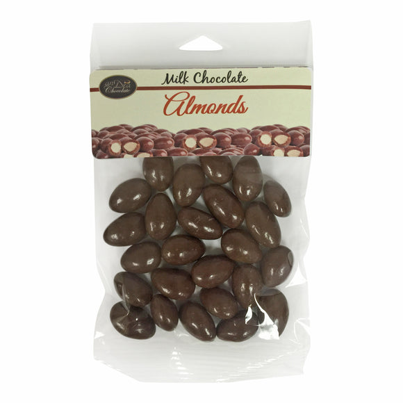 Milk Chocolate Covered Almonds, 100g