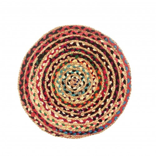 Braided Chindi Rug w/Jute, 24