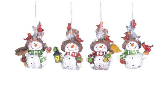 Country Snowman Ornament, 3