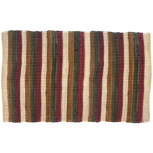 Floor Mat, Ribbed Chindi Cotton 30x48