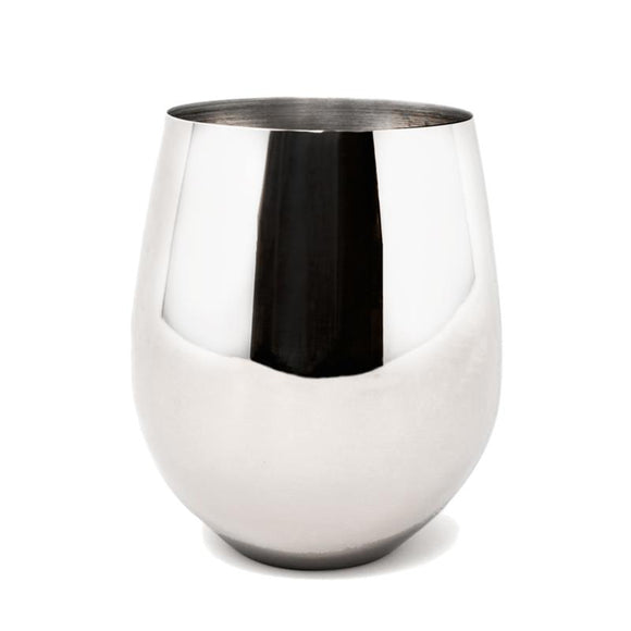Danesco Polished Stainless Steel Goblet, 10oz/300ml