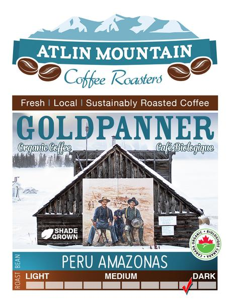 Goldpanner Organic Coffee Beans - Ground - 400 grams