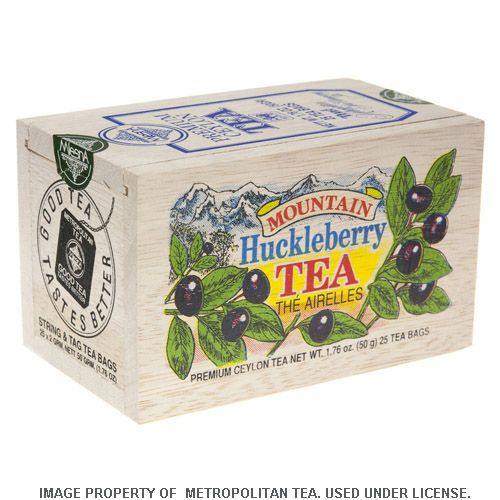 Wood Box, Mountain Huckleberry Black Tea, 25 Teabags