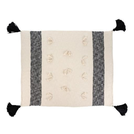 Zahra Throw, Black, 50x60