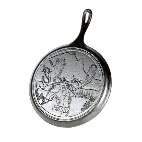 Lodge WildLife Moose Round Griddle 10.25