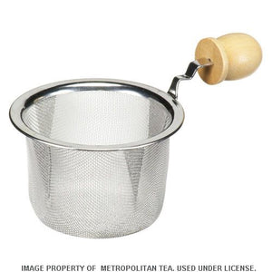 "Teapot Strainer, 2.5"" w/Wooden Handle"