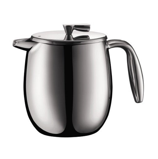 Bodum Columbia Stainless Steel Double Walled French Press, 4 Cup
