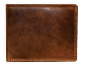 Rugged Earth Leather Wallet, Style 990008