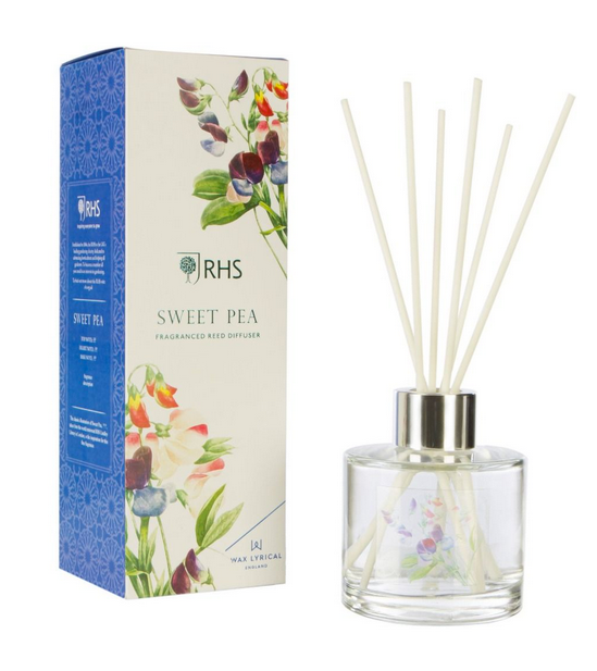 RHS Fragrant Garden Reed Diffuser, 100ml - Sweet Pea