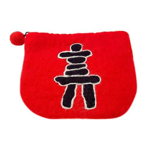Purse, Inukshuk (Red)