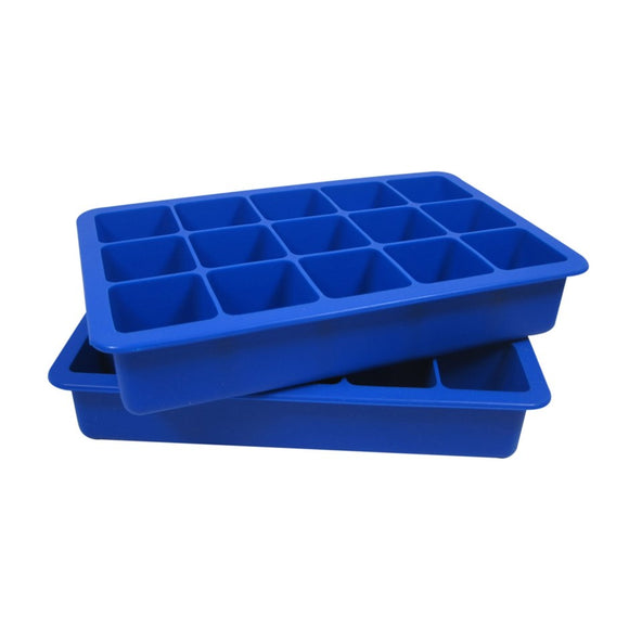 Silicone Ice Cube Trays, Set of 2 - Blue