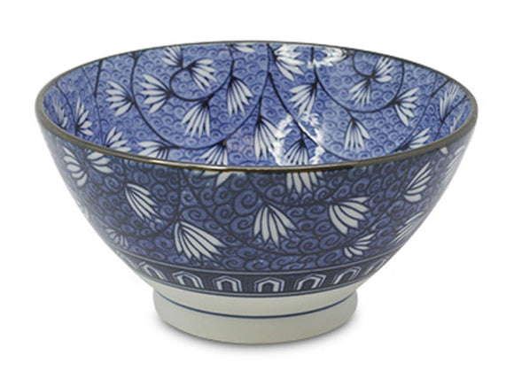 Ivy Arabesque Japanese Porcelain Tall Ramen Bowl, 7x3.5