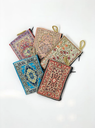 Turkish Embroidered Fabric Wallet, Small 4.5x3