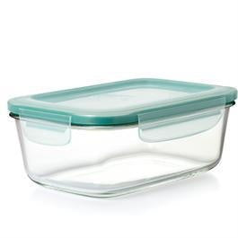 SmartSeal Glass Rectangular Container w/Lid, 1.6cup