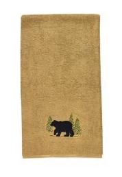 Park Designs Black Bear Terry Bath Towel 50x28