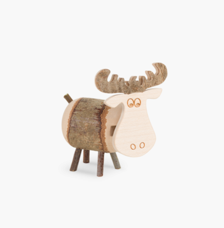 Knotty Animals, Oskar The Moose with Moveable Head, 6cm