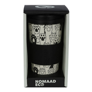 NOMAAD ECO: Bamboo Cup 473ml, Cat Paws