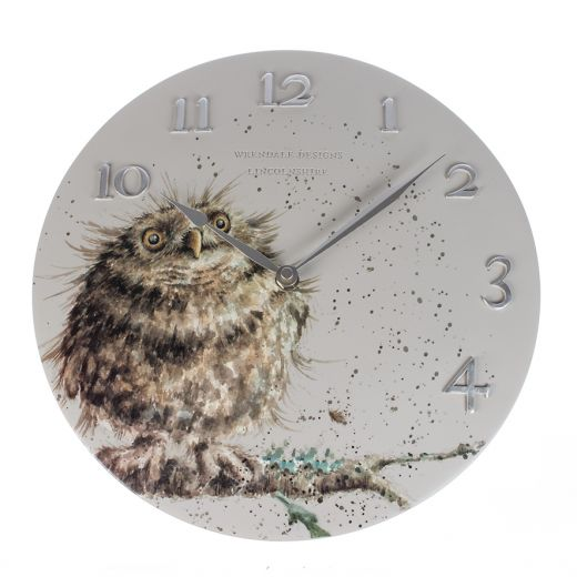 Wrendale Wall Clock, Owl