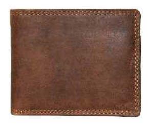 Rugged Earth Leather Wallet, Style 990011