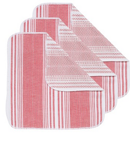 Scrub-It Dishcloths, Red Set of 3