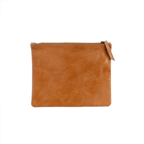 Artisan Leather Pouch, Terracotta 7x9