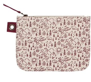 Large Zipper Pouch, Stay Wild