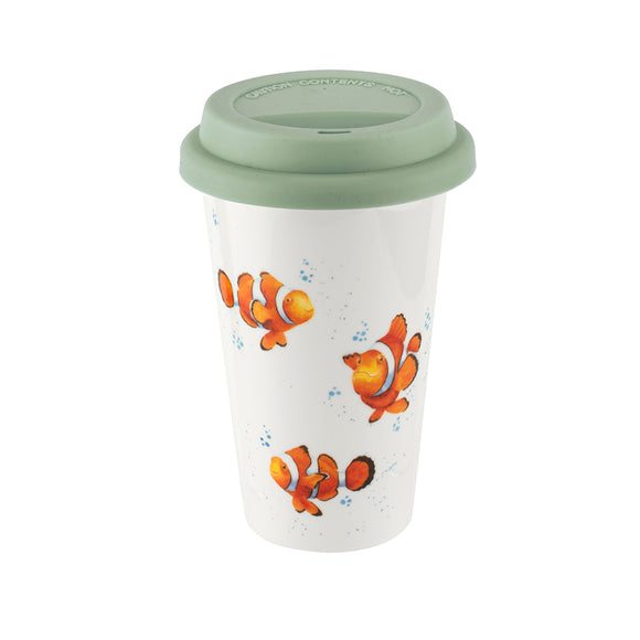 Wrendale Travel Mug: Clowning Around, 11oz