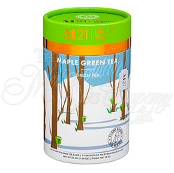 M21 Luxury Tea, Maple Green Tea, 24 Pyramid Bags