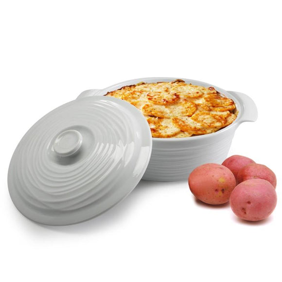 BIA Kalahari Covered Casserole, White 1.9L
